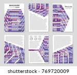 abstract vector layout house...
