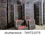 neatly arranged fruit basket ... | Shutterstock . vector #769721575
