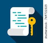 asymmetric key flat icon.... | Shutterstock .eps vector #769722325