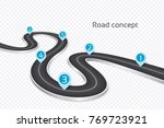 winding 3d road infographic... | Shutterstock .eps vector #769723921