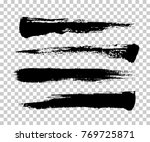 brush strokes isolated. ink... | Shutterstock .eps vector #769725871