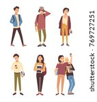 collection of male and female... | Shutterstock .eps vector #769727251