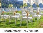 wedding day setup | Shutterstock . vector #769731685