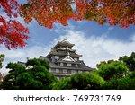 okayama castle in autumn season ... | Shutterstock . vector #769731769