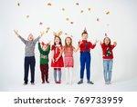 group of children having a fun  | Shutterstock . vector #769733959