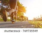 group of people running race...   Shutterstock . vector #769735549