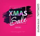 mery christmas card | Shutterstock .eps vector #769736095
