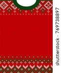 ugly sweater merry christmas... | Shutterstock .eps vector #769738897