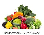 a fresh group of vegetables on... | Shutterstock . vector #769739629