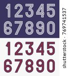 vintage football jersey numbers | Shutterstock .eps vector #769741537