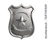 blank metallic badge  silver... | Shutterstock . vector #769745509
