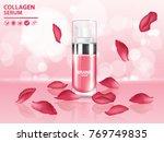 rose collagen vitamin skin care ... | Shutterstock .eps vector #769749835