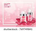 rose collagen vitamin skin care ... | Shutterstock .eps vector #769749841