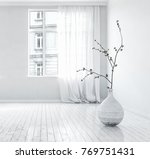 pair of large bright windows in ... | Shutterstock . vector #769751431