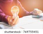 innovation or creative concept...   Shutterstock . vector #769755451