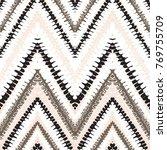 grunge chevron vector pattern... | Shutterstock .eps vector #769755709