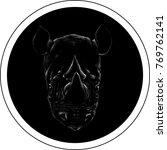 the vector logo rhinoceros for ... | Shutterstock .eps vector #769762141