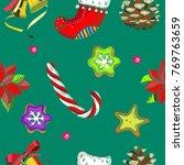 seamless pattern  vector... | Shutterstock .eps vector #769763659
