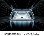 futuristic tunnel with light... | Shutterstock . vector #769764667