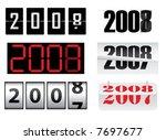 new year  2008 | Shutterstock .eps vector #7697677