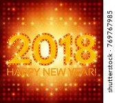 happy new 2018 year season...   Shutterstock . vector #769767985