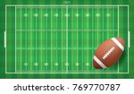 american football ball on...   Shutterstock .eps vector #769770787