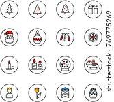 line vector icon set  ... | Shutterstock .eps vector #769775269