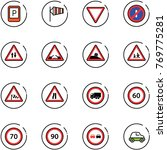 line vector icon set   parking... | Shutterstock .eps vector #769775281
