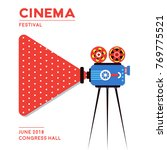 movie cinema poster design.... | Shutterstock .eps vector #769775521