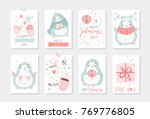 set of 8 cute ready to use gift ... | Shutterstock .eps vector #769776805