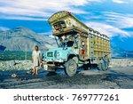 gilgit  pakistan   aug 6  1987  ...   Shutterstock . vector #769777261