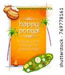 illustration of happy pongal... | Shutterstock .eps vector #769778161