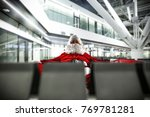 santa claus and airport... | Shutterstock . vector #769781281