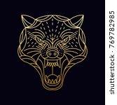cheetah   wolf   wild animal  ... | Shutterstock .eps vector #769782985
