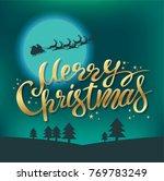 lettering merry christmas... | Shutterstock .eps vector #769783249