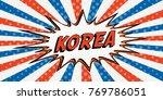flag banner of korea the style... | Shutterstock .eps vector #769786051