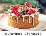 homemade christmas or new year... | Shutterstock . vector #769786099