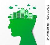 human head thinking environment ... | Shutterstock .eps vector #769786471