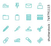 set of 16 tools outline icons... | Shutterstock .eps vector #769791115