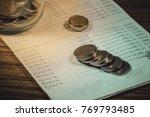 accountant verify the saving...   Shutterstock . vector #769793485