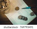 accountant verify the saving...   Shutterstock . vector #769793491