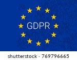 gdpr   general data protection... | Shutterstock .eps vector #769796665