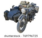 Old Military Motor Bike On...
