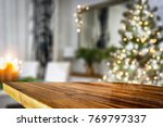 desk space and christmas time  | Shutterstock . vector #769797337