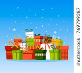 holiday christmas background... | Shutterstock .eps vector #769799287
