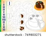 roman numerals in pictures.... | Shutterstock .eps vector #769803271