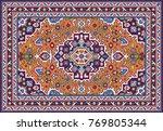 colorful oriental mosaic tabriz ... | Shutterstock .eps vector #769805344