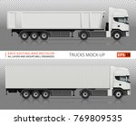 trucks vector mock up for... | Shutterstock .eps vector #769809535