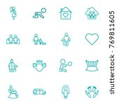 set of 16 people outline icons... | Shutterstock .eps vector #769811605