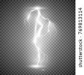 storm lightning bolt. vector... | Shutterstock .eps vector #769813114